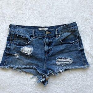 Bullhead denim distressed high rise shorts